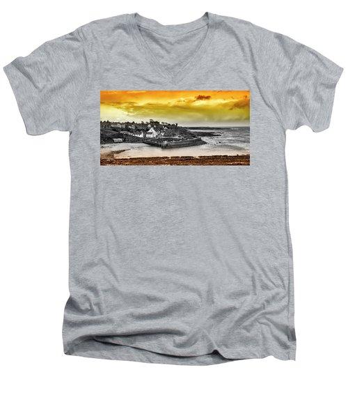 Crail Harbour Men's V-Neck T-Shirt by Jeremy Lavender Photography