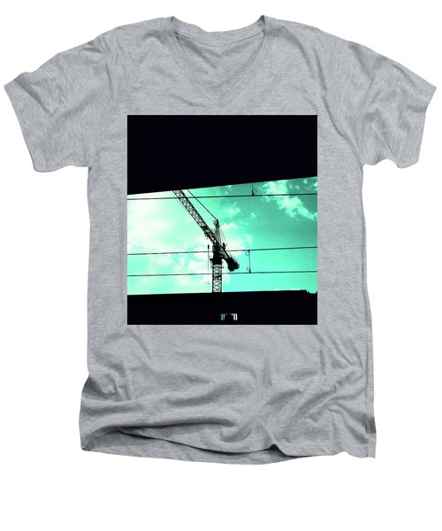 Crane And Shadows Men's V-Neck T-Shirt