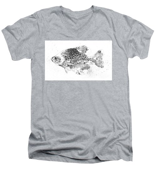 Crappie Abstract Men's V-Neck T-Shirt