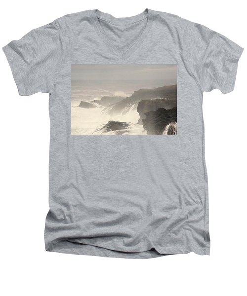 Men's V-Neck T-Shirt featuring the photograph Crashing Waves by Angi Parks