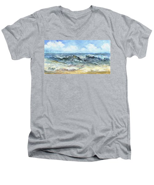 Crashing Waves In Florida  Men's V-Neck T-Shirt