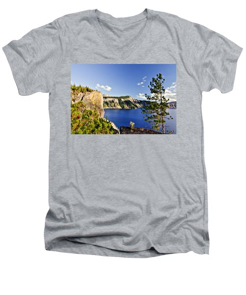 Crater Lake II Men's V-Neck T-Shirt