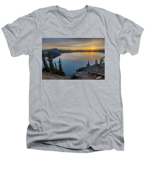 Crater Lake Morning No. 2 Men's V-Neck T-Shirt