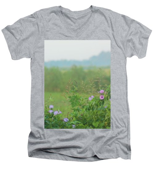 Men's V-Neck T-Shirt featuring the photograph Crawfish And Rice Fields Of Dreams by John Glass
