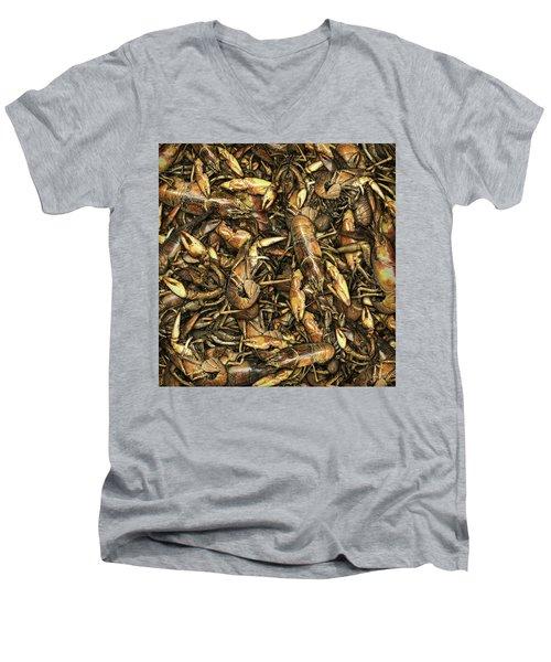 Crayfish Men's V-Neck T-Shirt by James Larkin