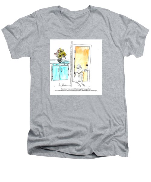 Crazy Cat Lady 0002 Men's V-Neck T-Shirt