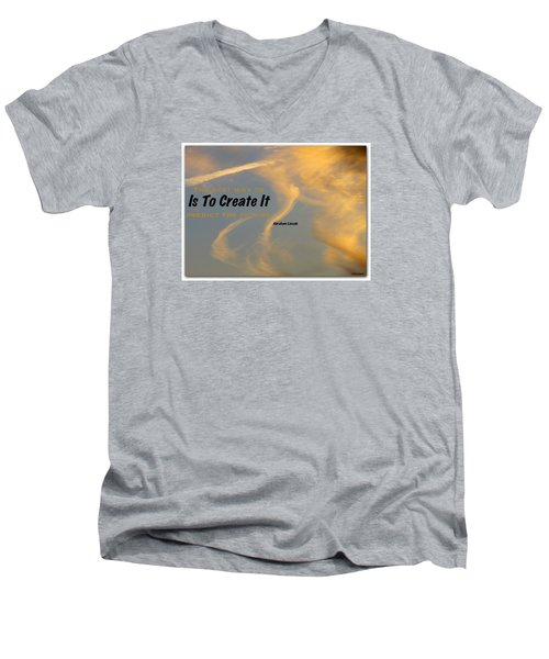 Men's V-Neck T-Shirt featuring the photograph Create Greatness by David Norman