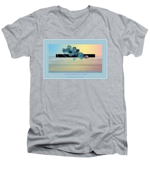 Creativity And Awareness In Yoga Men's V-Neck T-Shirt by Felipe Adan Lerma