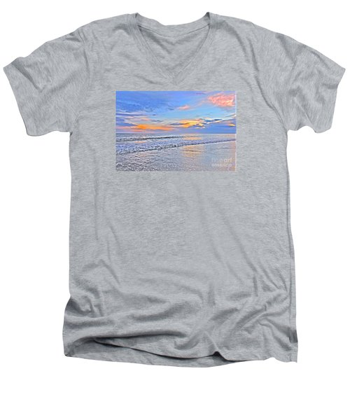 Men's V-Neck T-Shirt featuring the photograph Creators Sunset by Shelia Kempf