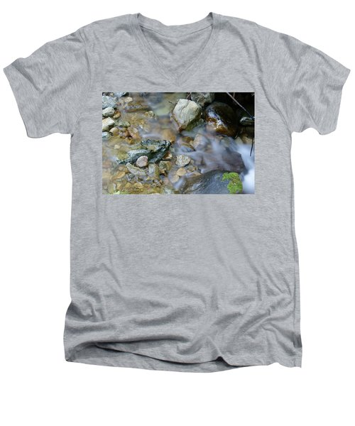 Creek On Mt Tamalpais Men's V-Neck T-Shirt
