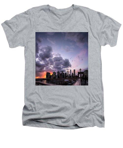 Crepsucular Nights Men's V-Neck T-Shirt