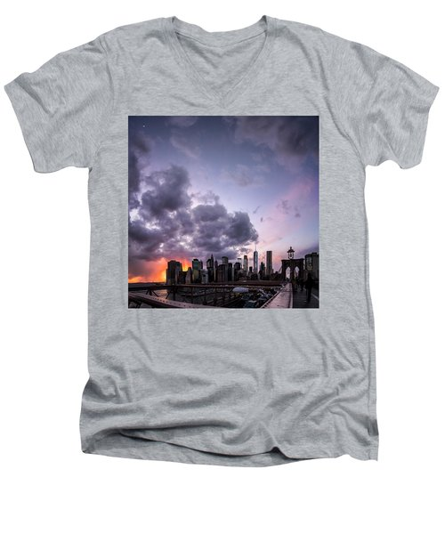 Crepsucular Nights Men's V-Neck T-Shirt