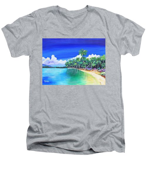 Crescent Beach Men's V-Neck T-Shirt