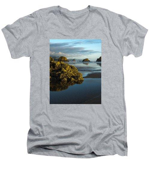 Crescent Beach Men's V-Neck T-Shirt