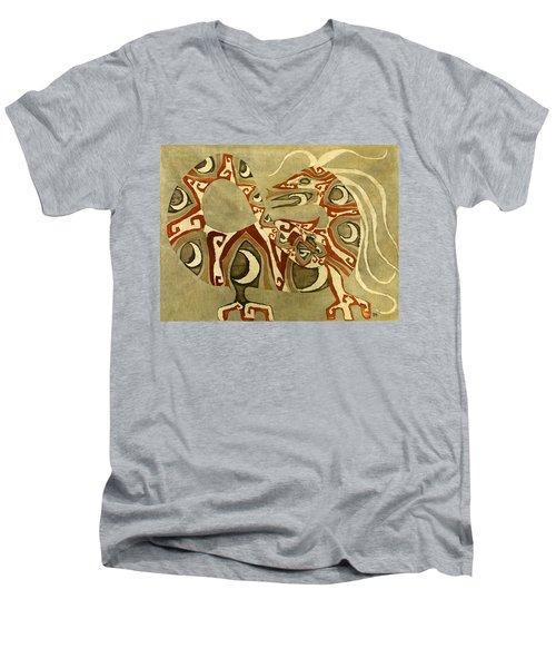 Crescent Dragon Men's V-Neck T-Shirt