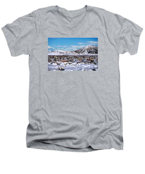 Crested Butte Panorama Men's V-Neck T-Shirt