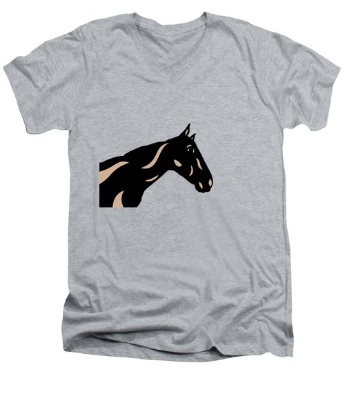 Crimson - Pop Art Horse - Black, Hazelnut, Island Paradise Blue Men's V-Neck T-Shirt