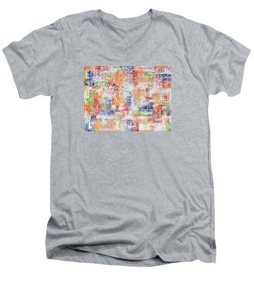 Criss Cross Men's V-Neck T-Shirt