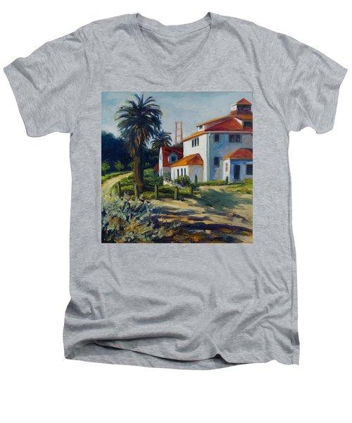 Crissy Field Men's V-Neck T-Shirt by Rick Nederlof