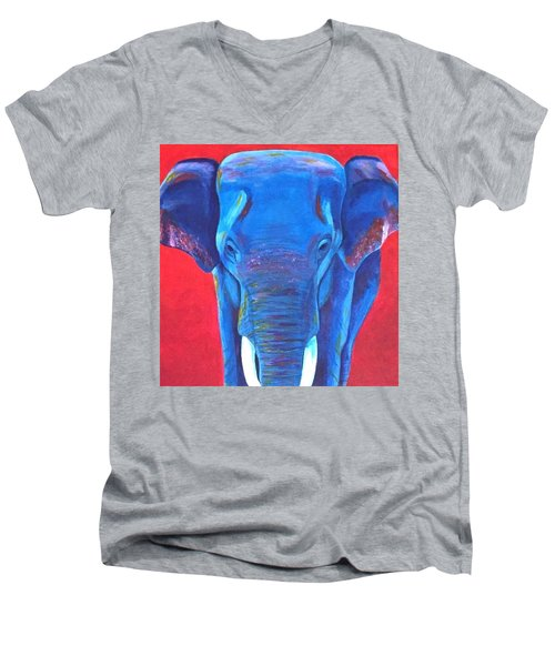 Critically Endangered Sumatran Elephant  Men's V-Neck T-Shirt