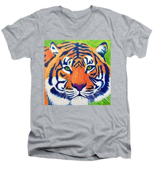 Critically Endangered Sumatran Tiger Men's V-Neck T-Shirt