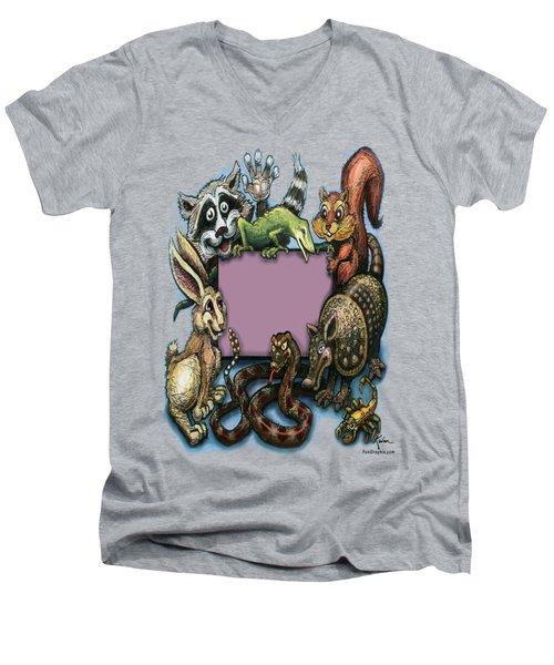 Critters Men's V-Neck T-Shirt by Kevin Middleton