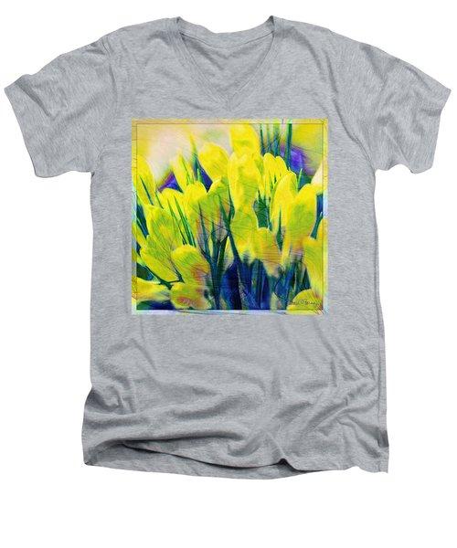 Crocus Men's V-Neck T-Shirt