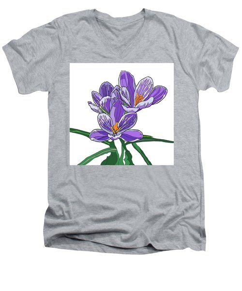 Crocus Men's V-Neck T-Shirt