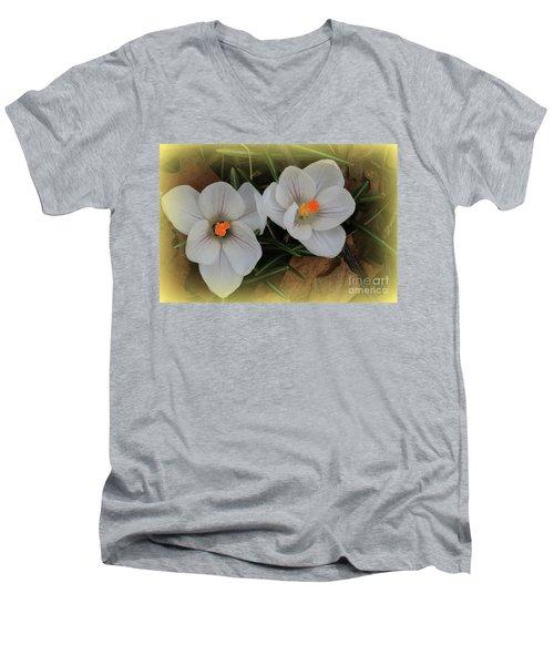 Crocuses Men's V-Neck T-Shirt