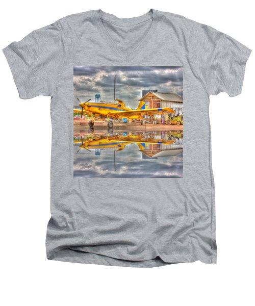 Crop Duster 001 Men's V-Neck T-Shirt