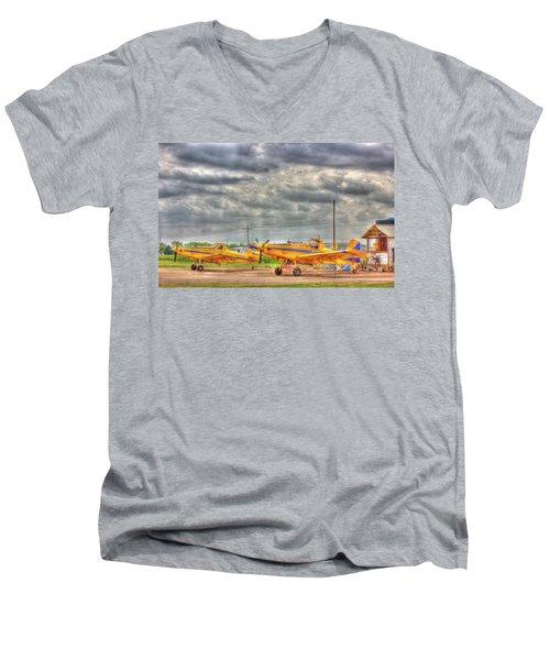Crop Duster 003 Men's V-Neck T-Shirt