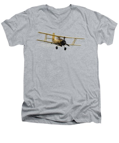 Crop Duster T Men's V-Neck T-Shirt by David Andersen