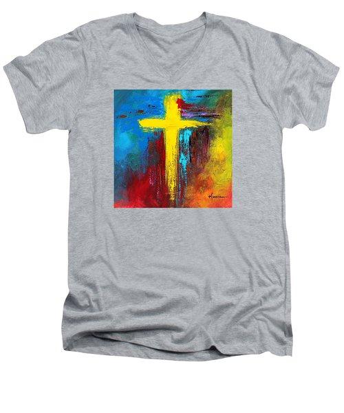 Cross 2 Men's V-Neck T-Shirt by Kume Bryant