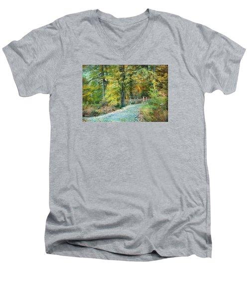 Cross Over The Wooden Bridge Men's V-Neck T-Shirt