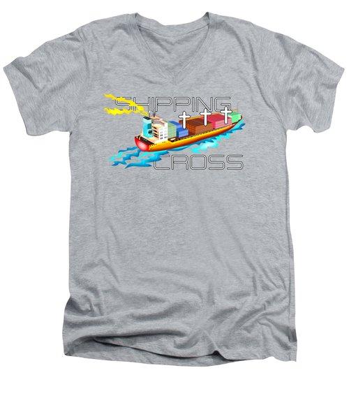Cross Shipping Men's V-Neck T-Shirt
