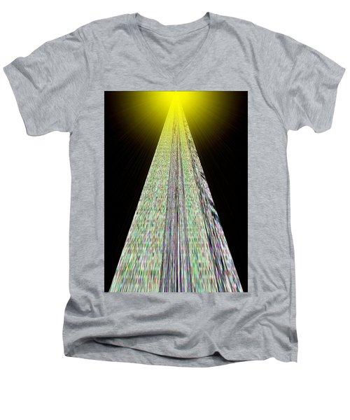 Cross That Bridge Men's V-Neck T-Shirt by Bob Wall