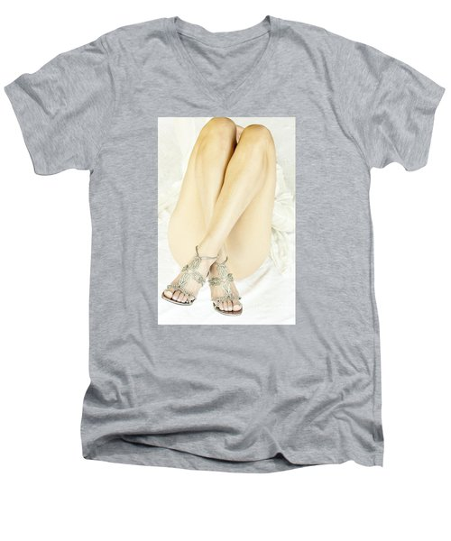 Men's V-Neck T-Shirt featuring the photograph Crossed by Marat Essex