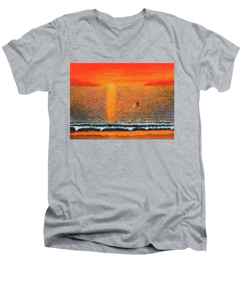 Crossing Over Men's V-Neck T-Shirt by Thomas Blood