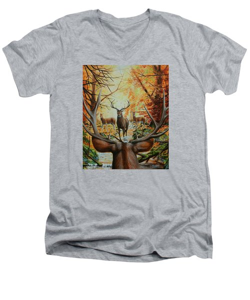 Crossing Paths Men's V-Neck T-Shirt by Ruanna Sion Shadd a'Dann'l Yoder