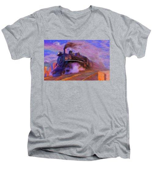 Crossing Rails Men's V-Neck T-Shirt