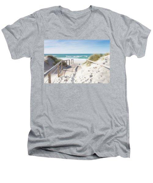 Crossing The Dune Men's V-Neck T-Shirt by Edgar Laureano
