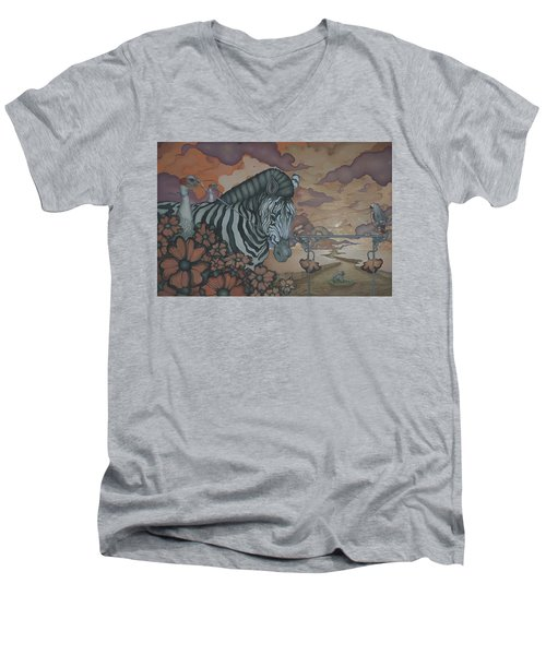 Crossing The Mara Men's V-Neck T-Shirt by Andrew Batcheller