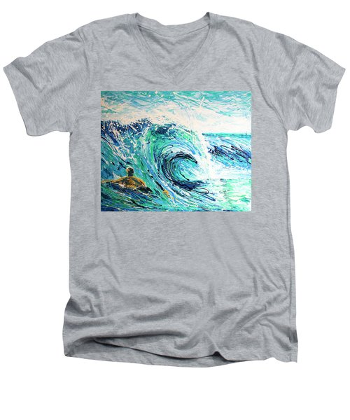 Crossing The Sandbar Men's V-Neck T-Shirt