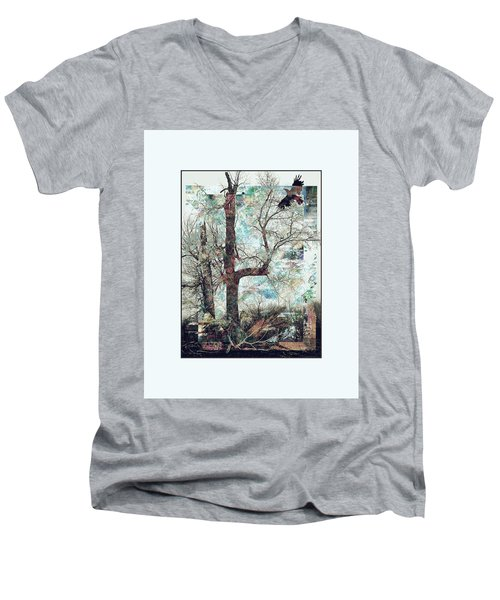 Crow At Ten Mile Creek Men's V-Neck T-Shirt