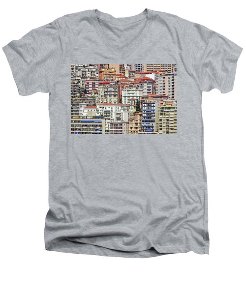 Crowded House Men's V-Neck T-Shirt by Keith Armstrong