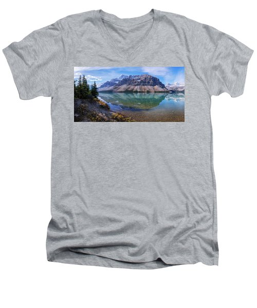 Men's V-Neck T-Shirt featuring the photograph Crowfoot Reflection by Chad Dutson
