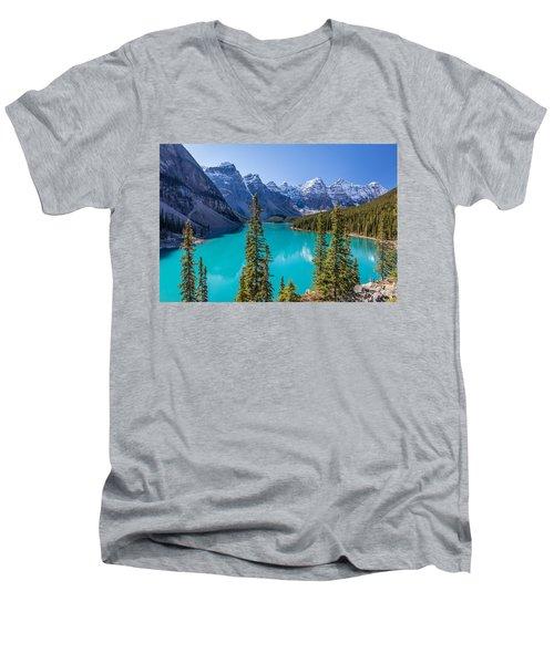 Crown Jewel Of The Canadian Rockies Men's V-Neck T-Shirt