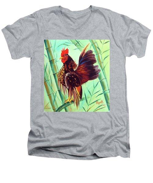 Crown Of The Serama Chicken Men's V-Neck T-Shirt by Ragunath Venkatraman