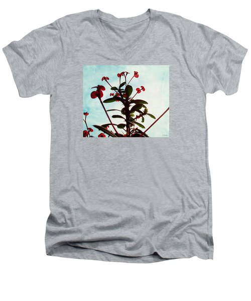 Crown Of Thorns Men's V-Neck T-Shirt by Shawna Rowe