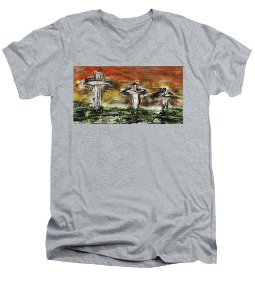 Crucifixion #2 Men's V-Neck T-Shirt